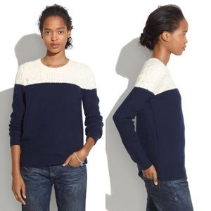 madewell colorblocked knit sweater - XS